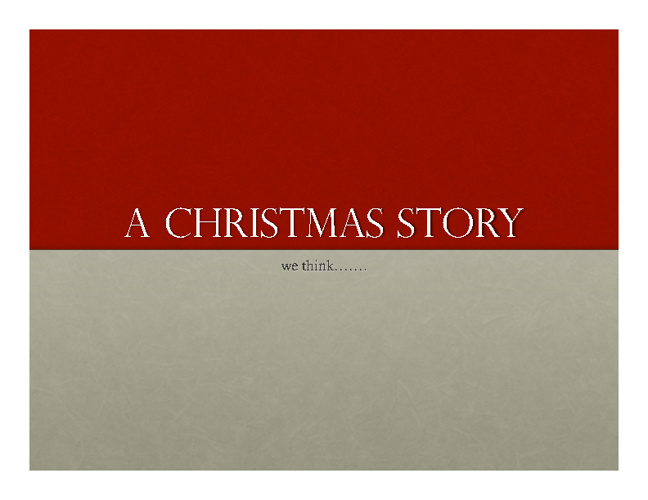A Christmas Story?