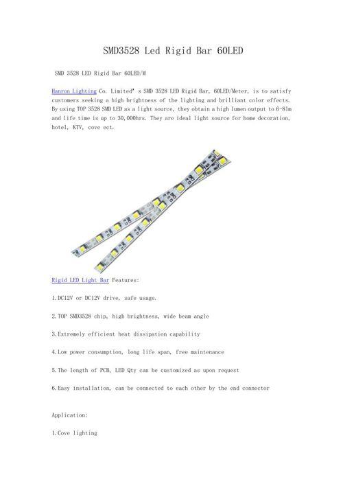 SMD3528 Led Rigid Bar 60LED