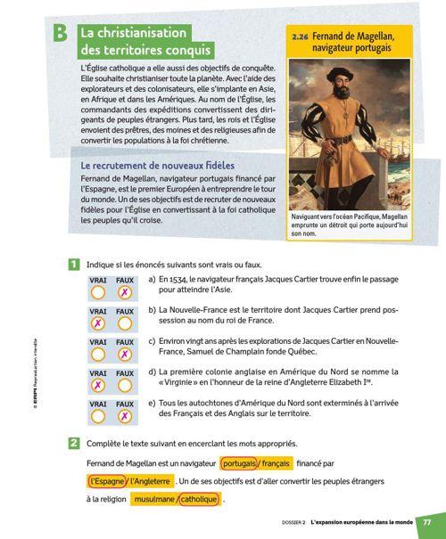 Corrigés des pages 70 à 77
