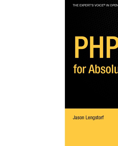Apress - PHP for Absolute Beginners