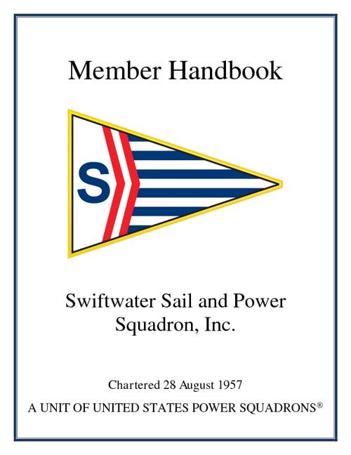 Swiftwater Member Handbook '12