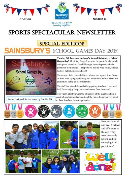 Sports Newsletter Number 16