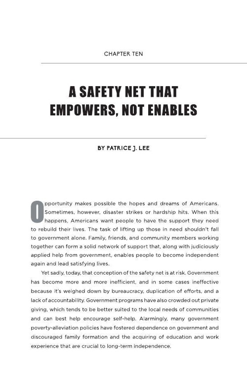 Chapter Ten - A Safety Net That Empowers, Not Enables
