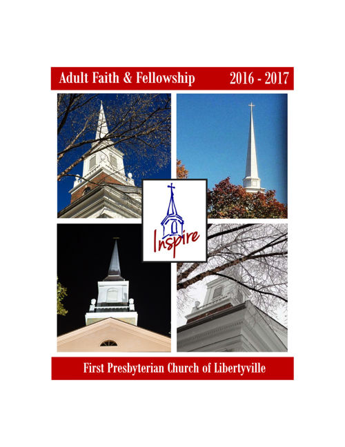 2016-17 Adult Faith & Fellowship Booklet