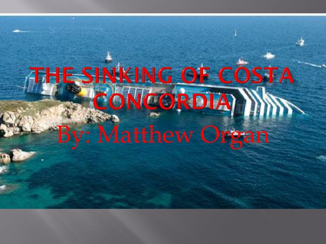 The sinking of Costa Concordia