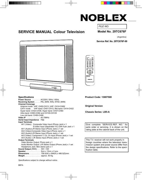 NOBLEX 29TC676F-MANUEL WALDEMAR