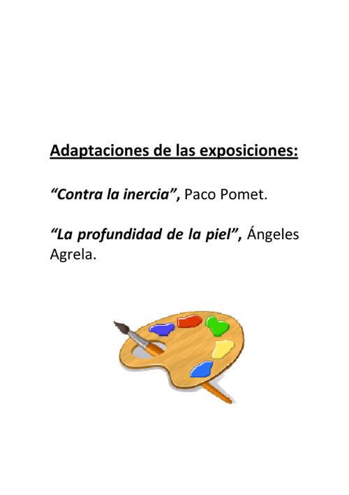 Adaptaciones de las exposiciones de arte contemporáneo