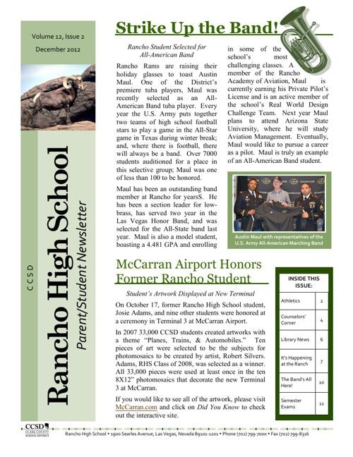 RHS December 2012 Newsletter