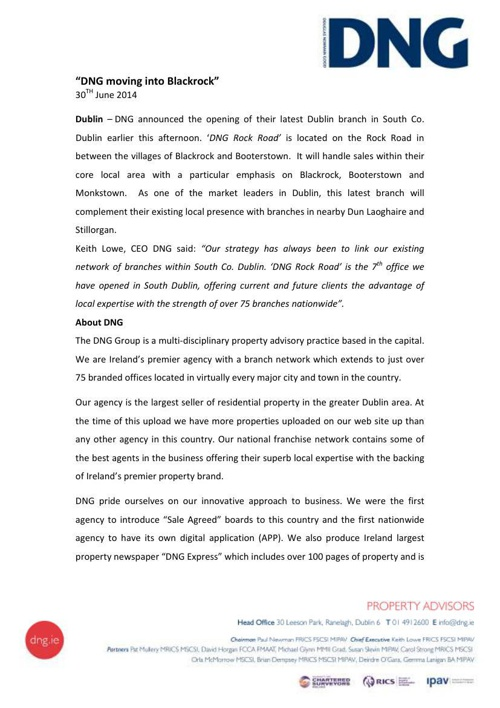 DNG Rock Road - Press Release