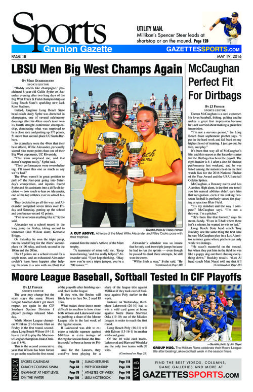 Gazette Sports | May 19, 2016