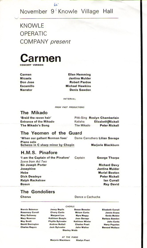 1965 Carmen Concert Version