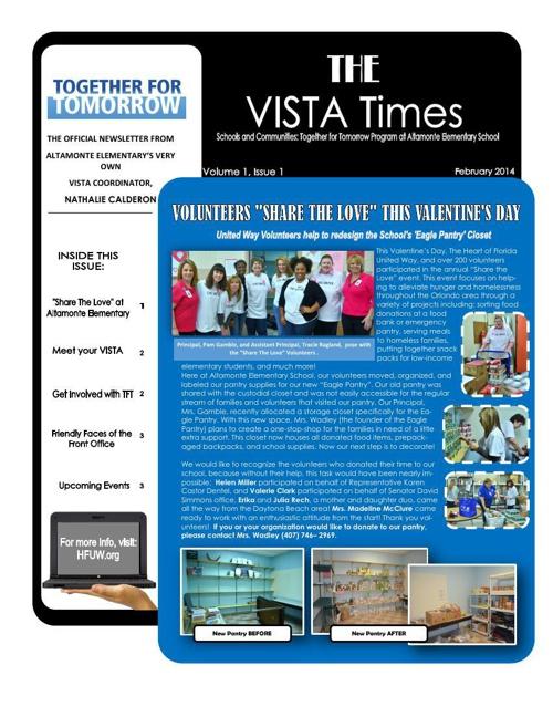 VISTA Times Volume 1 - February