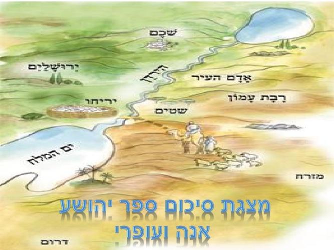 סיכום ספר יהושוע שכבה ד