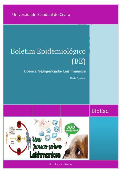 Boletim Epidemiológico- Leishmaniose