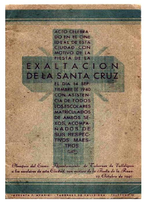exaltación Santa Cruz 1940