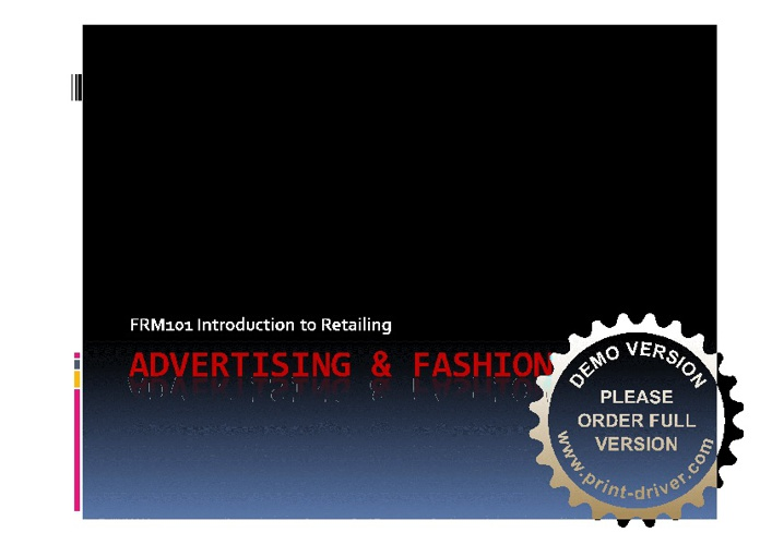 Advertising & Fashion