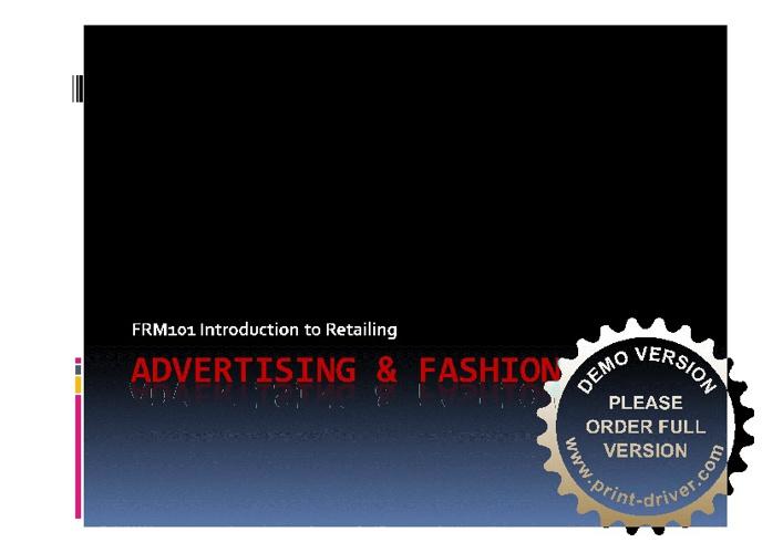 Advertising & Fashion