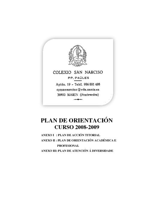 PLAN DE ORIENTACIÓN