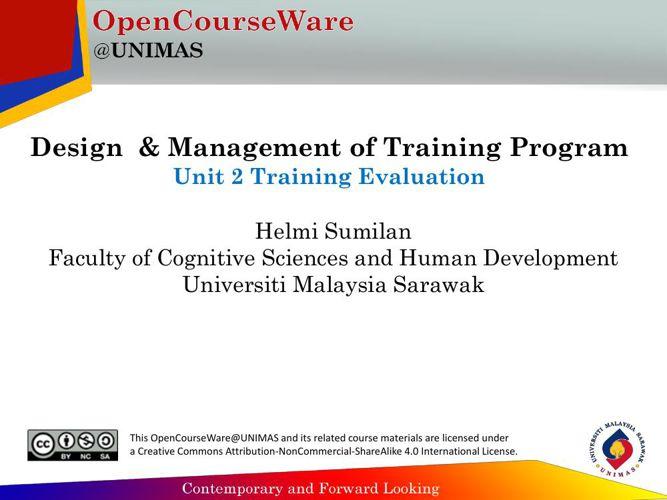 4 Level Framework of Training Evaluation