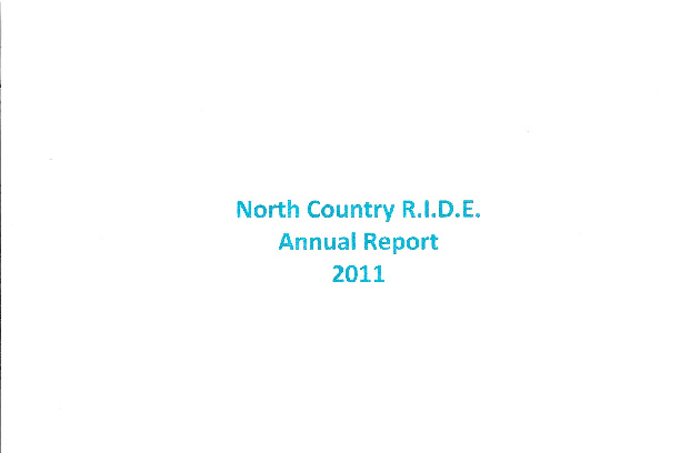 North Country R.I.D.E.  2011 Annual Report