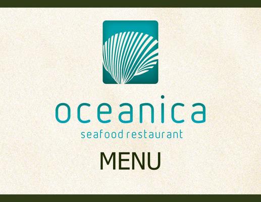 Copy of Oceanica Seafood Restaurant Menu