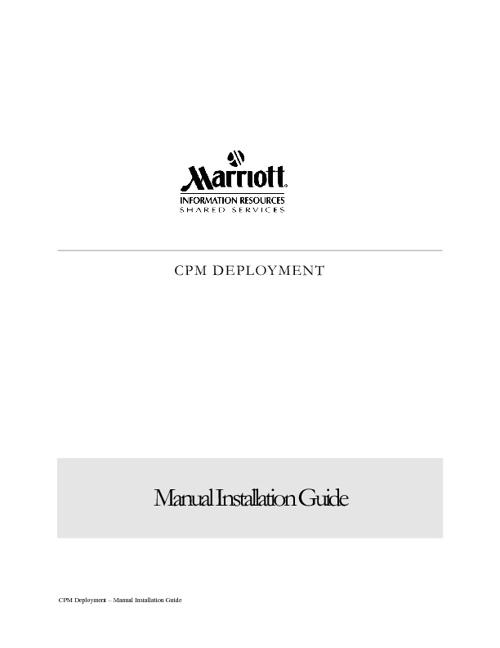 CPM Deployment