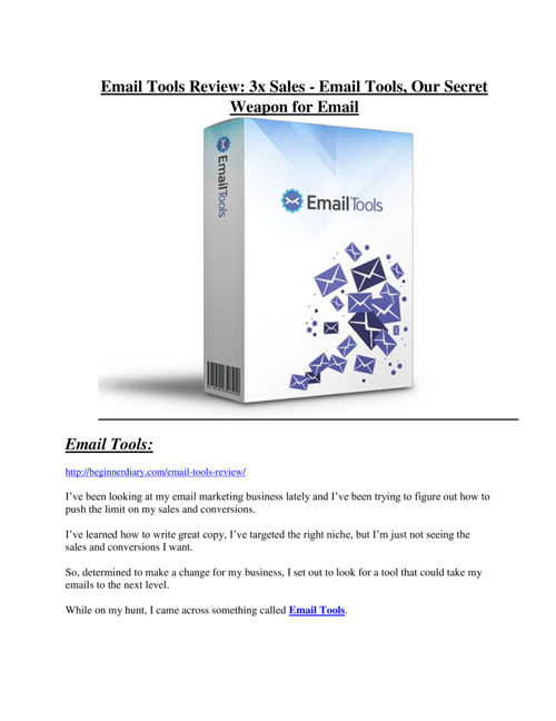 Email Tools review and (MEGA) bonuses – Email Tools
