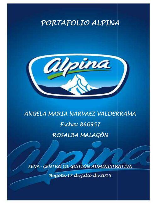 PORTAFOLIO ALPINA