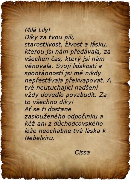 Pro Lily 2.část