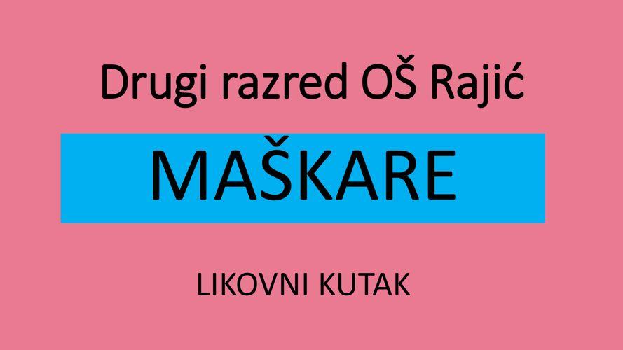 Likovni radovi učenika OŠ Rajić