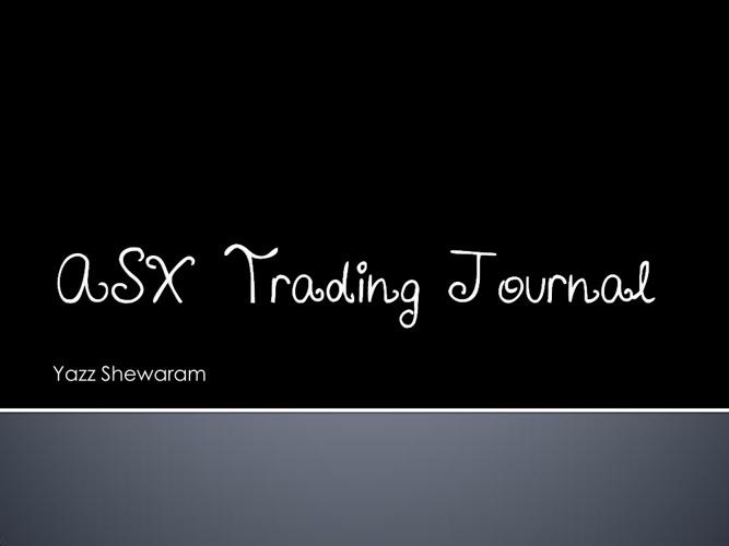 ASX Trading Journal
