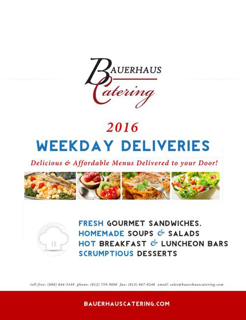 2016 Bauerhaus Catering Weekday Specials