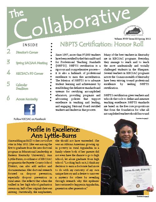 KECSAC Collaborative Newsletter