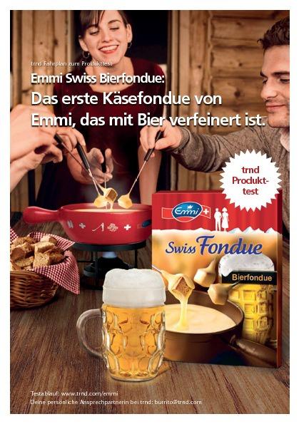 Emmi Swiss Bierfondue Projektfahrplan