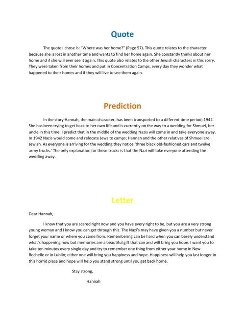 war novel project