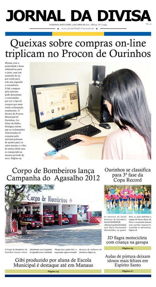 JORNAL DA DIVISA - Edição de 13 de Abril de 2012.