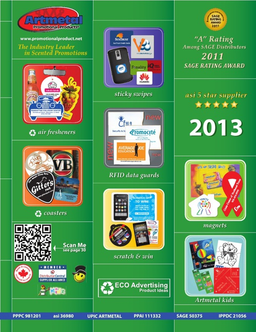 Artmetal Promotional Product 2013 Catalog