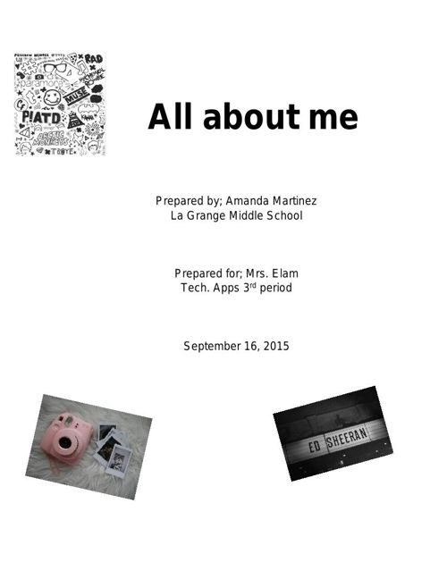 all about me essay
