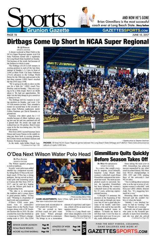 Gazette Sports  |  June 15, 2017