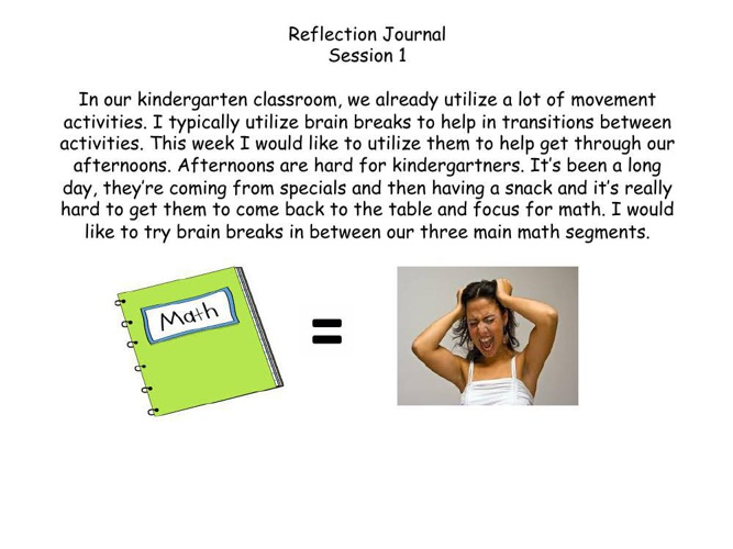 Kelly's Reflection Journal