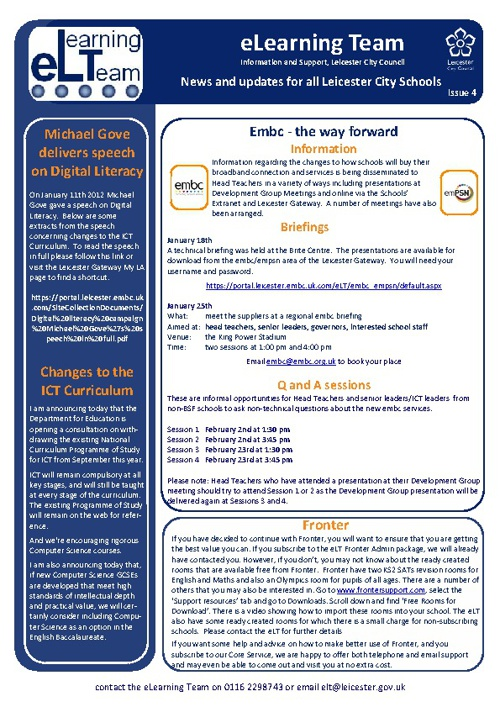 eLT Newsletter Issue 4