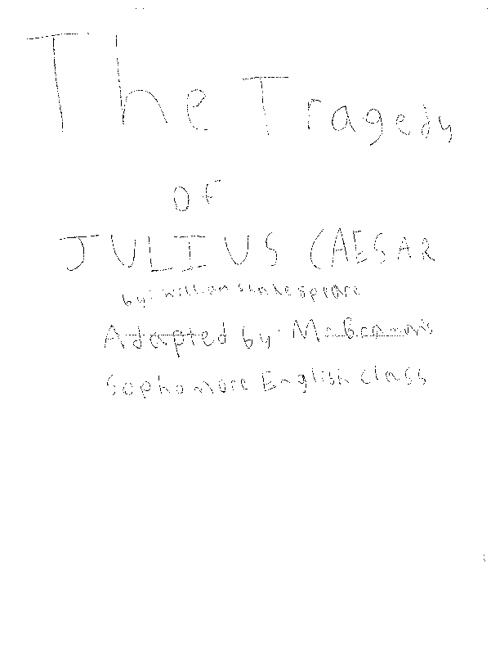 Group 8 The Tragedy of Julius Caesar