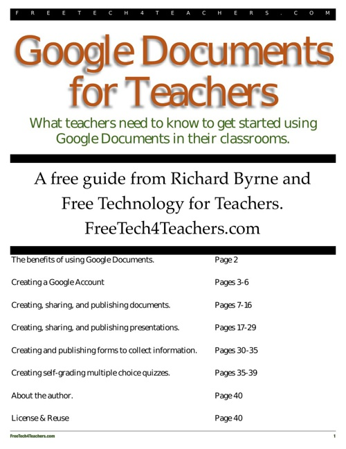 Google Docs Guide for Teachers
