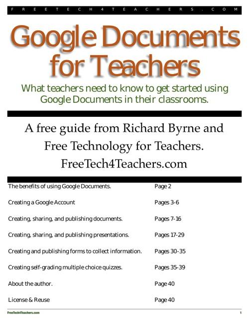 Google Docs Guide for Teachers