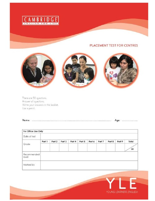 e-Brochure CEFL YLE Placement Test For Schools (Version 3)