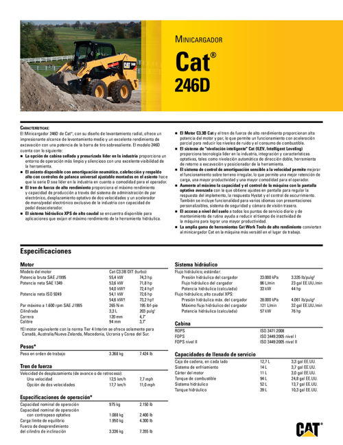 Catalogo Mini Cargadores Caterpillar