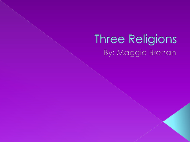 Middle East Religions Compare/Contrast- Maggie Brenan- Period 6