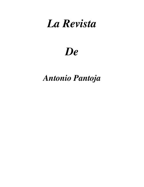 La revista de Antonio Pantoja
