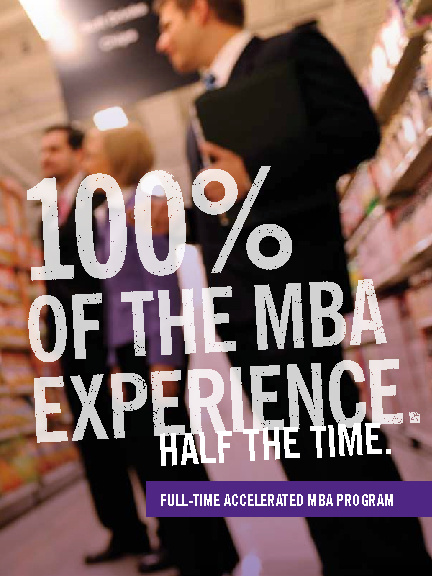 Full-time Accelerated MBA Program