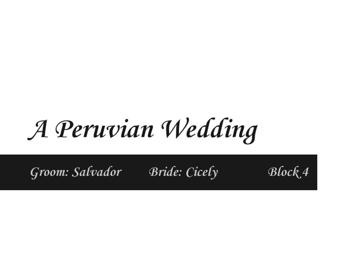 A Peruvian Wedding